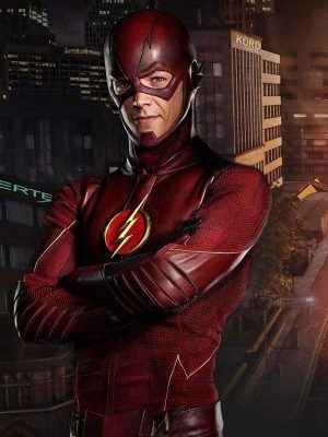 BARRY ALLEN FLASH LEATHER JACKET