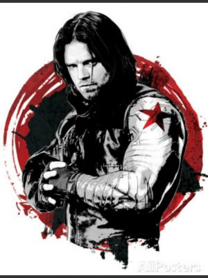 Bucky Barns Civil War Black Star Patch Jacket