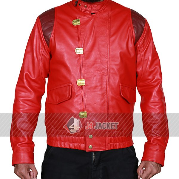 Akira Kaneda Red Leather Jacket-0