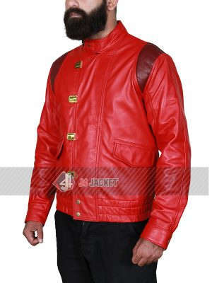 Akira Kaneda Red Leather Jacket-5316