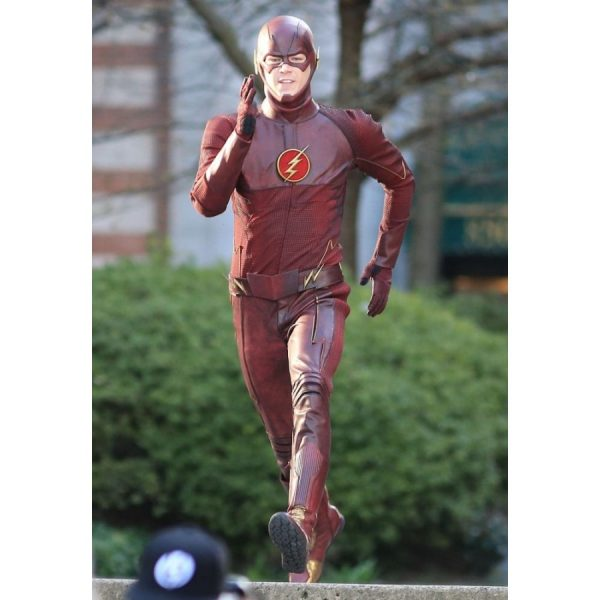 Barry Allen The Flash Red Leather Jacket