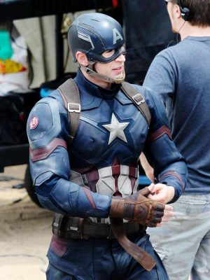 Chris Evans Captain America Civil War Jacket-0