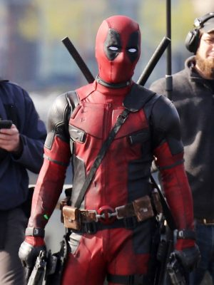 Ryan Reynolds Red And Black Deadpool Jacket-0