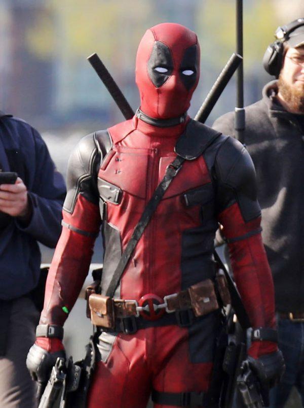 Ryan Reynolds Red And Black Deadpool Jacket-0