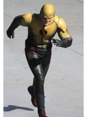 Eobard Thawne Yellow adn Black Leather Jacket