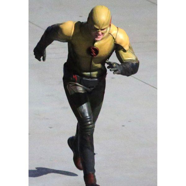 Eobard Thawne Yellow adn Black Leather Jacket