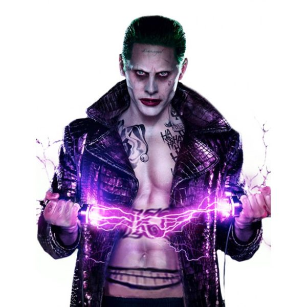 Suicide Squad Jared Leto Joker Leather Coat