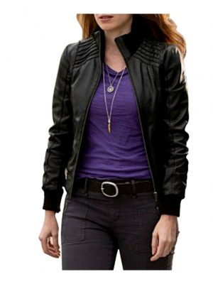 The Flash American TV Series Kelly Frye Black Leather Jacket-0