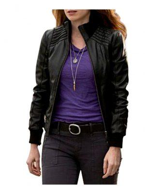 The Flash American TV Series Kelly Frye Black Leather Jacket-0