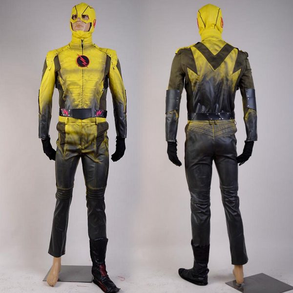 Slimfit Yellow Leather Jacket From The Flash