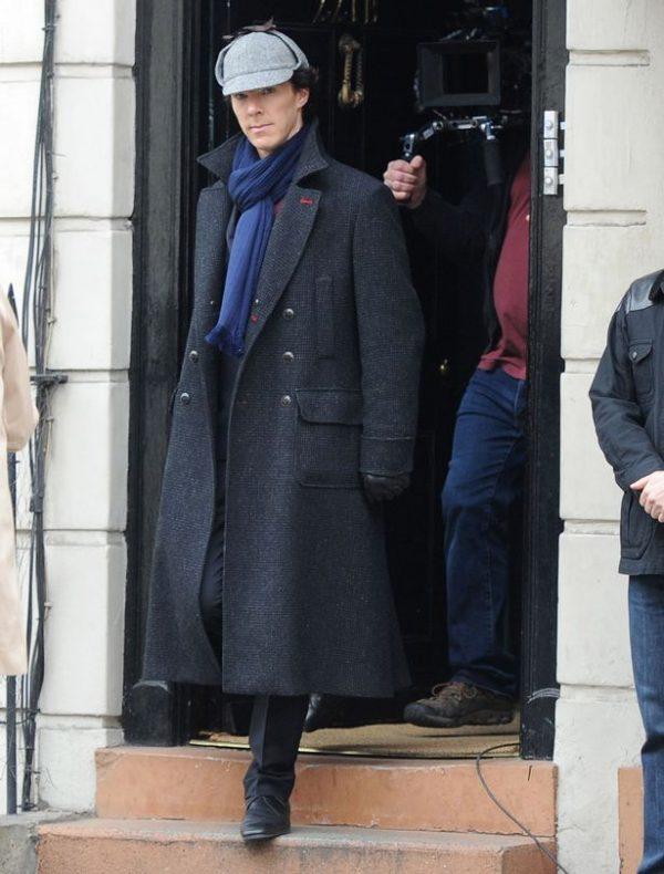 Black Wool Coat From Sherlock Holmes