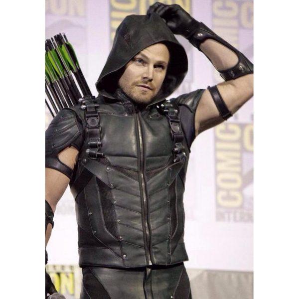 Arrow Season 4 Green Hooded Vest