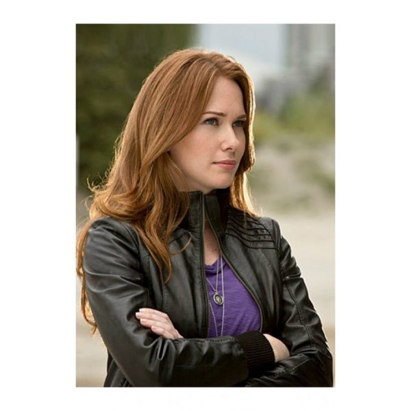 Kelly Frye Black Leather Jacket From The Flash