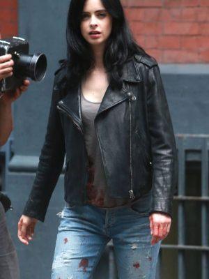 Jessica Jones Black Leather Jacket