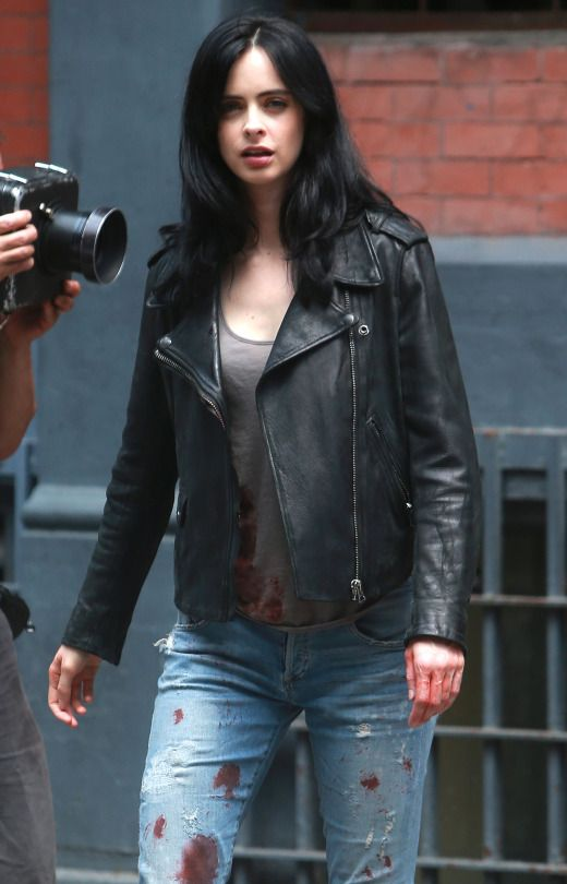 Jessica Jones Black Leather Jacket