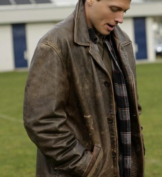 Dean Winchester Brown Distressed Leather Jacket