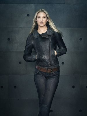 Anna Torv Fringe TV Series Black Leather Jacket