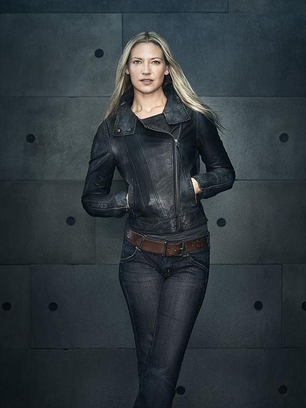 Anna Torv Fringe TV Series Black Leather Jacket