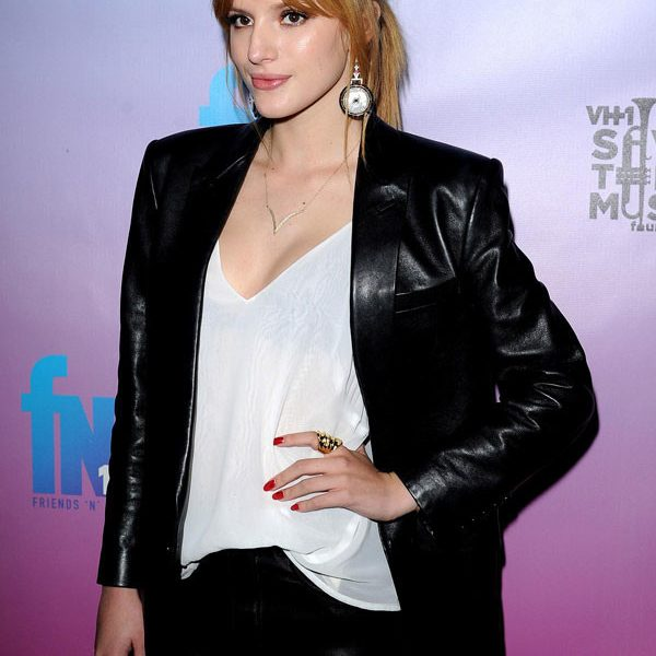Pre Grammy Party Bella Thorne Jacket-0