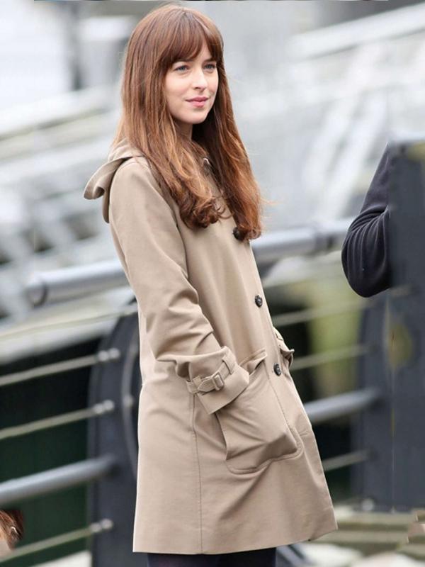Dakota Johnson Fifty Shades of Darker Leather Coat