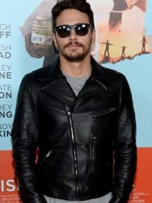 James Franco Black Leather Jacket