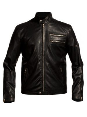 Aaron Paul Black Leather Jacket