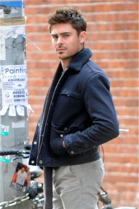 Zac Efron Black Fur Collar Jacket