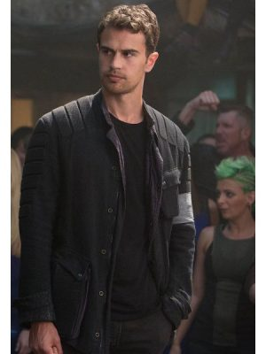 Theo James The Divergent Allegiant Leather Jacket