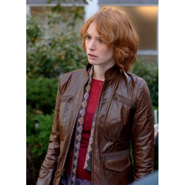 88 Minutes Alicia Witt Brown Jacket