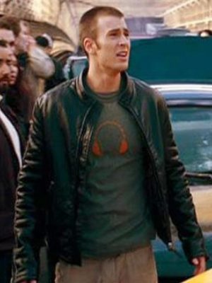 Chris Evans Fantastic 4 Black Jacket