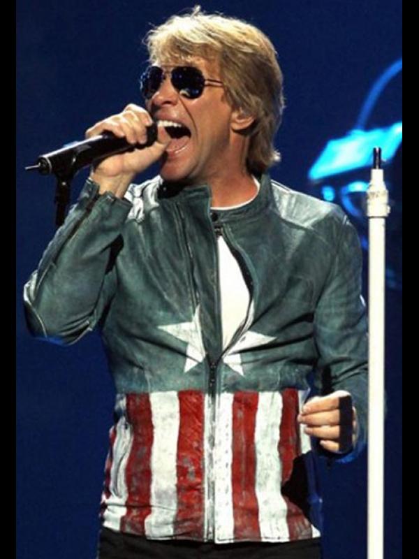 Bon Jovi Captain America Leather Jacket
