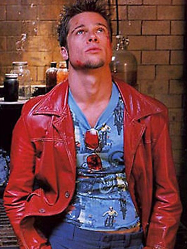Brad Pitt Leather Jacket Fight Club