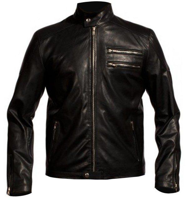 Aaron Paul Black Leather Jacket