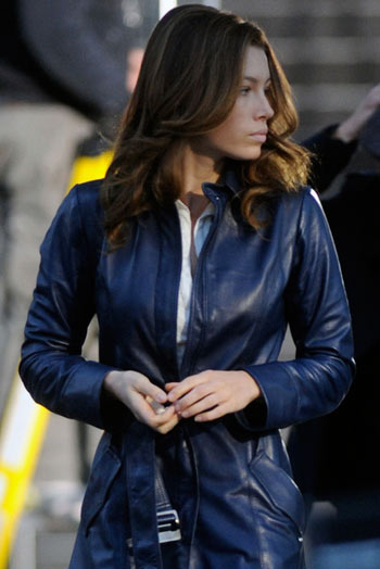 The A Team Jessica Biel Long Coat