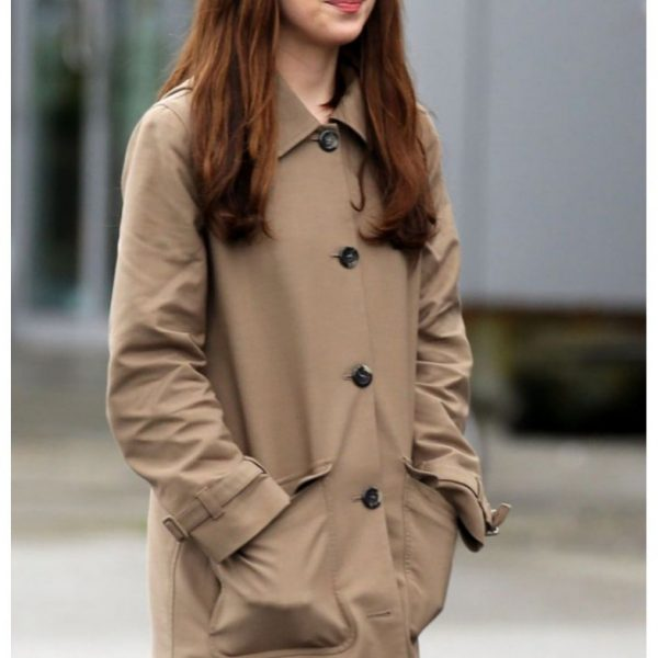 Dakota Johnson Fifty Shades of Darker Leather Coat
