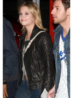 Ashley Benson Quilted Leather Jacket