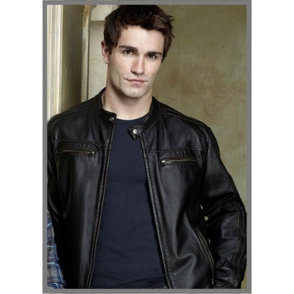 Being Human Aidan Black Leather Jacket-0