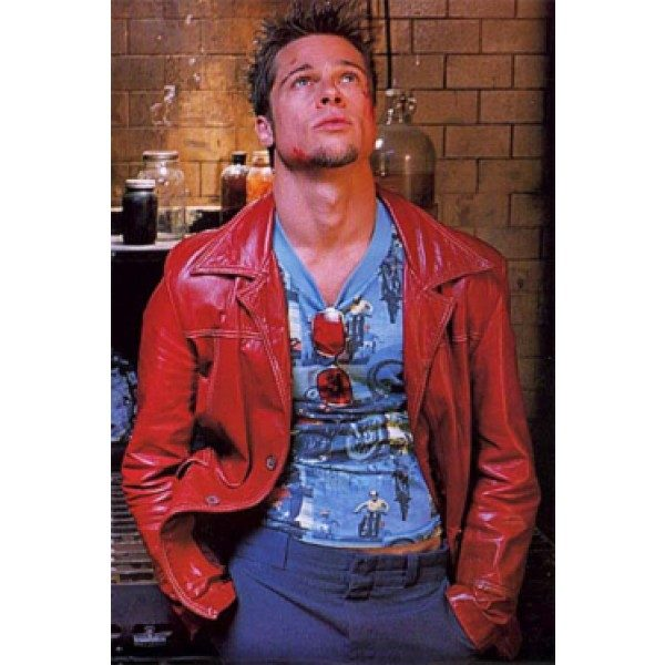 Brad Pitt Leather Jacket Fight Club
