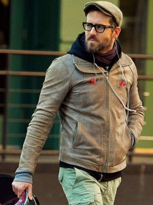 Ryan Reynolds Distressed Leather Jacket