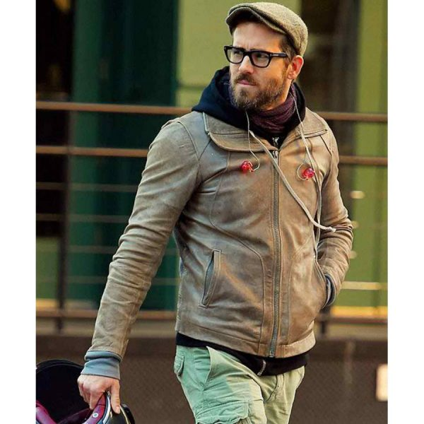 Ryan Reynolds Distressed Leather Jacket