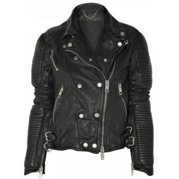 Burberry Prorsum Black Leather Jacket