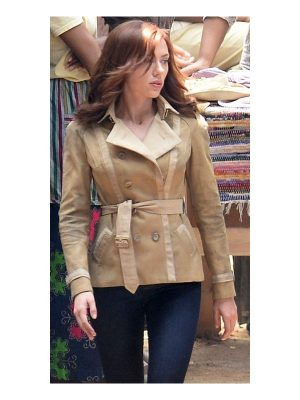 Civil War Scarlett Johansson Beige Jacket-0