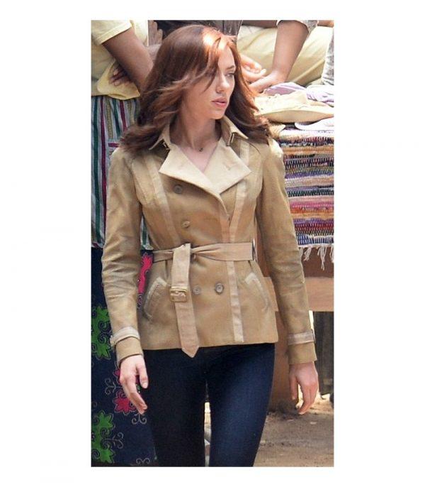 Civil War Scarlett Johansson Beige Jacket-0