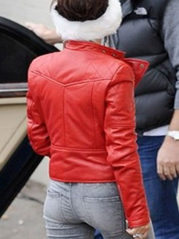 Santa Claus Cheryl Cole Leather Jacket