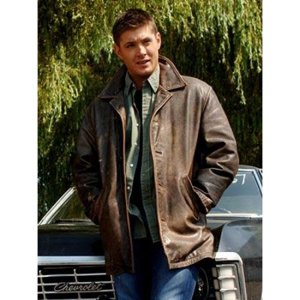 Dean Winchester Supernatural Season Leather Jacket-0