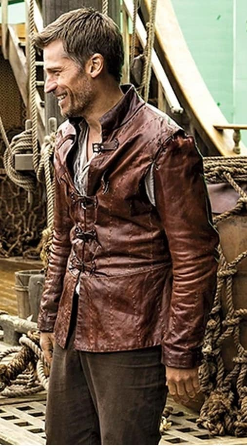 Game of Thrones Jaime Lannister Distressed Leather Jacket