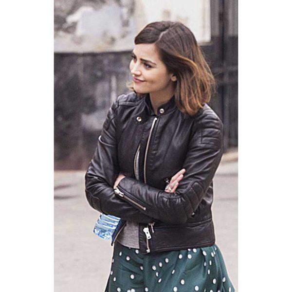Clara Oswald Doctor Who Black Leather Jacket
