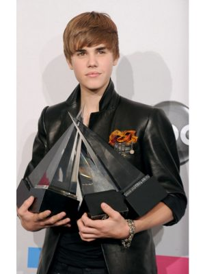 Justin Bieber 2010 Music Awards Winners Black Jacket