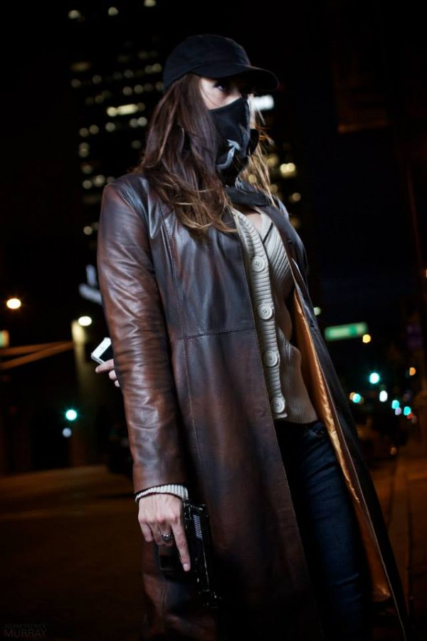 Women's Brown Trench Coat Watch Dogs