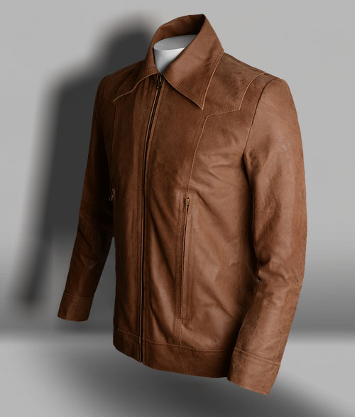 X Man Vintage Brown Leather Jacket